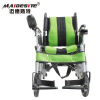 Quality Stable Small Motorized Wheelchair , Fold Up Motorized Wheelchair Shock Absorbing for sale