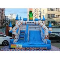 Quality Flame Resistant Giant Commercial Inflatable Slide / Inflatable Bouncers With Slide for sale