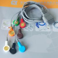 Buy DMS Holter ECG Cable , 7 Leads IEC Snap Electrode Lead Wires DB Pin Connector at wholesale prices