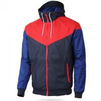 Quality Multi Function Mens Outdoor Jacket , Contrast Color Built In Earphone Jacket for sale