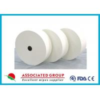 Quality Customzied Size White Spunlace Nonwoven Fabric For Alternative Use , Ultra Soft And Thick for sale