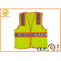China Mesh High Visibility Reflective Safety Vests , Construction Worker Safety Work Vest with Pockets  on sale