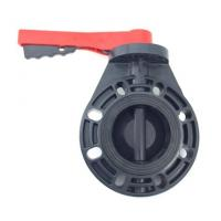 China 4'' PVC Butterfly Valve With EPDM Seals and A Stainless Steel Stem For Fountains on sale