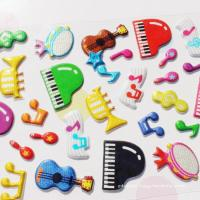 Quality Glitter Plastic Custom Puffy Stickers Non-Toxic PVC Foam Stickers for sale