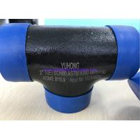 """Quality ASTM A860 WPHY60 / 42 / 52 / 65 / 70/ 80 TEE , ELBOW 2"""" SCH80 BW ASME B16.9 Black Surface OR Color Coating for sale"""
