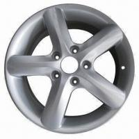 Quality Alloy Car Wheel in Replica Design, Measures 16 x 6 Inches, with Silver Polish Surface Finish for sale