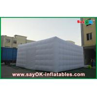 Quality Portable Giant White Nylon Cloth Inflatable Air Tent , 3m Channel for sale