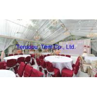 Outdoor clear roof tent, transparent marquee luxury party tent for 1000 seaters for sale