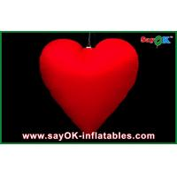 Quality Night Inflatable Led Heart Lighting Decoration For Advertising for sale