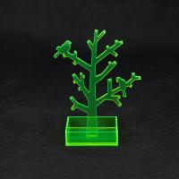 Quality Translucent Green Acrylic Jewellery Display Stands With Tree Shape for sale