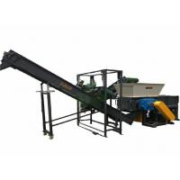 China 2 Shaft Scrap Aluminum Shredder Equipment With 50pcs Blades CE Certification on sale