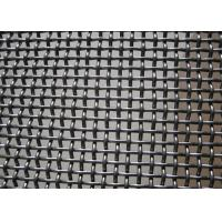 Quality Crush Stone Crimped Wire Mesh , Vibrating Screen Mesh Polished Surface Treatment for sale