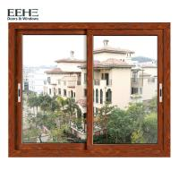 Quality Economic Red Aluminium Horizontal Sliding Windows With Insect Screen 4mm for sale