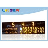 Quality High Brightness LED Baseball Scoreboard For University CE / RoHS Approved for sale