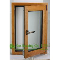 Quality Casement Type Wood Aluminum Window, Insulating Double Glass(Inside is natural wood) for sale