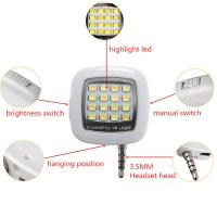 Quality LED FLASH light for Camera Mini Selfie Sync for IOS Android with USB Cable GK-FL01 for sale