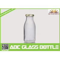 Quality Clear milk 200ml glass bottle BPA free for sale