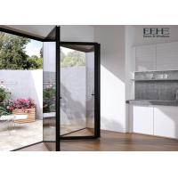 Quality Weatherstripping Grey Aluminium Folding Doors For Patio Exterior 2.0mm Thickness for sale