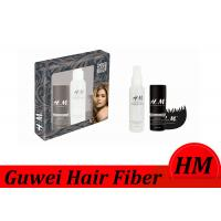 Quality Flexible Instant Hair Building Fiber Brown Color With Spray Applicator for sale