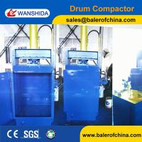 China Wanshida Hydraulic Waste Oil Drum Crusher Compactor For Sale on sale