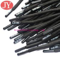 Polyester lace with reflective stripe with silicone dipped tips drawcords for hoodies for sale