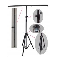 Quality 3m Height Black Truss Light Stand , Steel Material Dj Lighting Stands For Hanging for sale