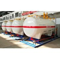 Quality 10CBM / 10000 Liters LPG Gas Storage Tank With Dispenser Equipments And Scales for sale