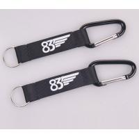 Quality factory eco-friendly promotional custom carabiner short lanyard with strap keying for sale