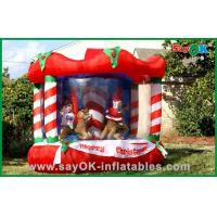 Quality Inflatable Christmas Decoration House Bouncer , Custom Inflatables Product for sale
