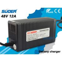 China Suoer Car Battery Charger 12A Electric Car Battery Charger 48V with Three Step Charging Mo on sale