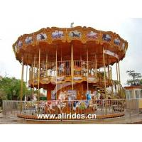 China Double deck carousel 48 seats amusement rides for sale on sale