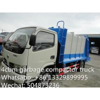Quality hot sale small garbage compactor truck, 4cbm dongfeng refuse garbage truck, garbage truck supplier for sale