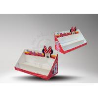 Quality Corrugated Cardboard Counter Display Boxes With Glossy For Rerail for sale