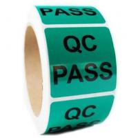 Quality QC Pass Security Sticker Labels , Custom Shape Security Seal Stickers Eco friendly for sale