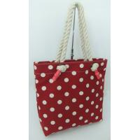 Tote bag with cotton canvas fabric with big round thick string handle for sale