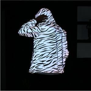 Quality trendy blank Mens Reflective Jacket with Zebra Stripes design Eco friendly for sale