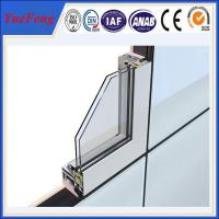 Quality Aluminium section 6063 extrusion profiles,standard size aluminium door and windows frame for sale