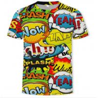 Quality O Neck Adults Full Sublimation Printing T Shirts Anti Pilling Eco Friendly for sale