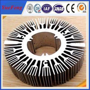 Quality Industrial aluminium profile manufacturer for round sunflower heatsink aluminium for sale