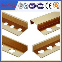 Quality 2015 New design Best Price Cover strips, Golden Aluminium Flooring Profile for sale