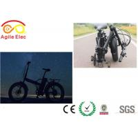 Quality Ladies Black 20 Inch Electric Folding Bike 500 Watt Battery Powered Bicycle for sale