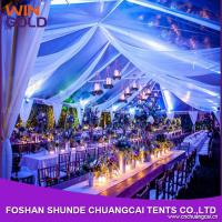 Quality 2015 Luxury white pvc clear span marquee large event tent for outdoor concert for sale