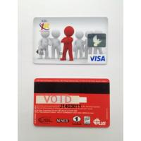 Bank smart prepaid visa smart credit cards visa / PET magnetic swipe card