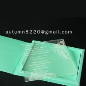 Quality acrylic wedding invitation for sale