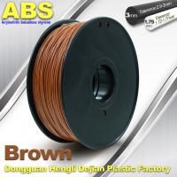Quality High Strength ABS 3D Printer Filament 1.75mm /  3.0mm 732C Brown 1kg / Spool Filament for sale
