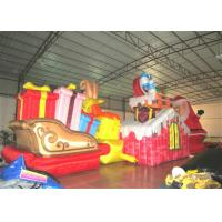 Quality Waterproof Inflatable Christmas Decorations Strong Fabric Inflatable Santa Claus 12 X 5m for sale