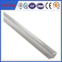 Quality Anodized Silvery Aluminum U Channel Extrusions , aluminium frame profiles for sale