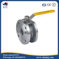 Quality ANSI-150 Stainless steel clamp type ball valve with ISO5211 mounting pad for sale