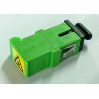 Quality Green SC/APC Simplex Adapter with Shutter,Short flange,metal clip for sale