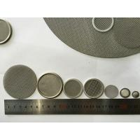 Quality High Porosity Round Mesh Screen Filter , Custom Stainless Steel Filter Screen for sale